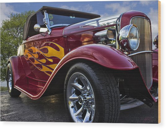 Little Deuce Coupe Wood Print