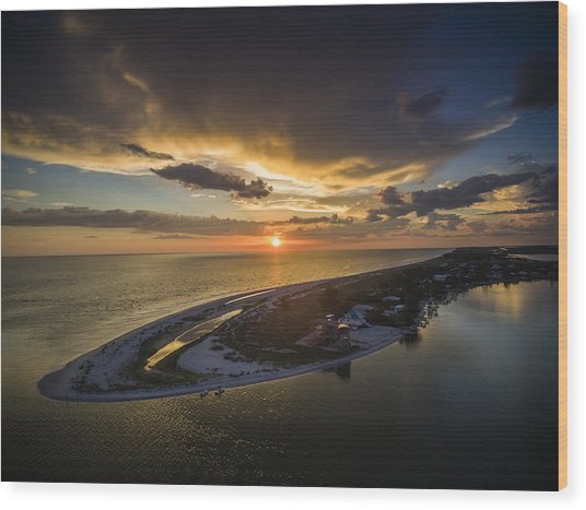 Little Gasparilla Island Point Sunset Wood Print