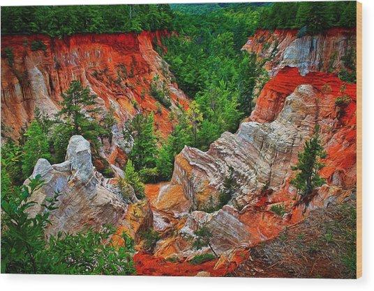 Little Grand Canyon Wood Print