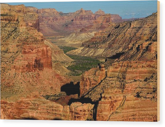 Little Grand Canyon Sunrise Wood Print