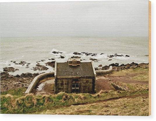 Little House At The Nigg Bay. Wood Print