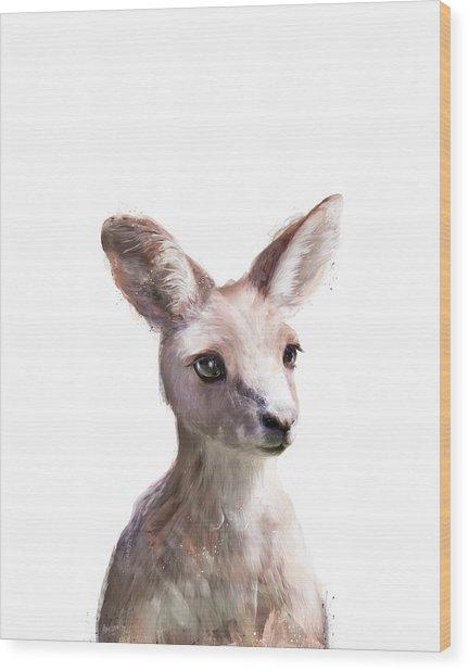 Little Kangaroo Wood Print