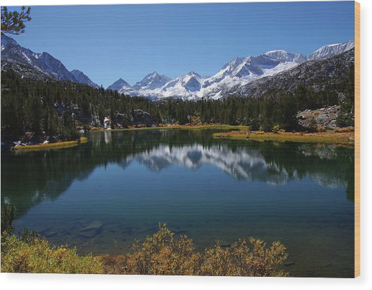 Little Lakes Valley Eastern Sierra Wood Print
