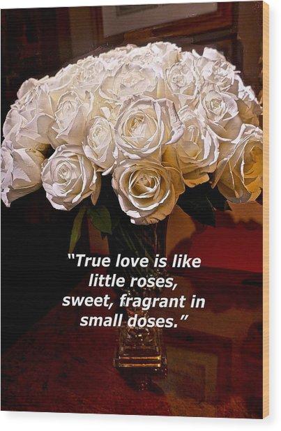 Little Love Roses Wood Print