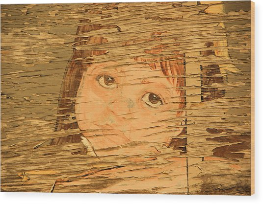 Little Mountain Girl Wood Print by Tingy Wende