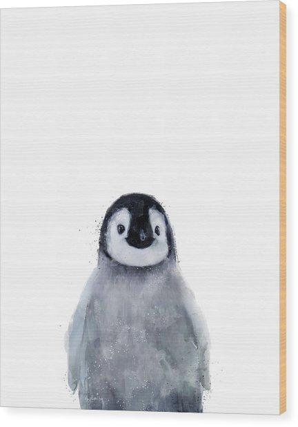 Little Penguin Wood Print