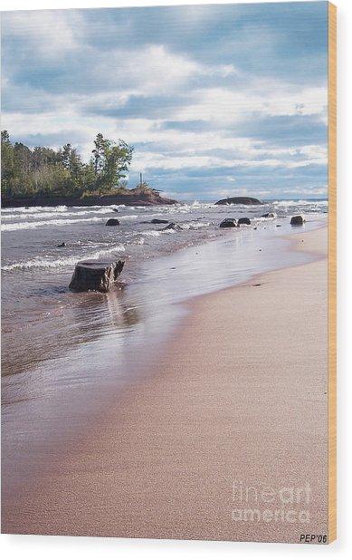 Little Presque Isle Wood Print