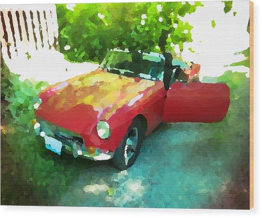 Little Red M G B Wood Print