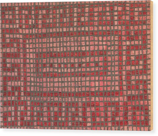 Little Red Tiles Wood Print by Tracy Fetter