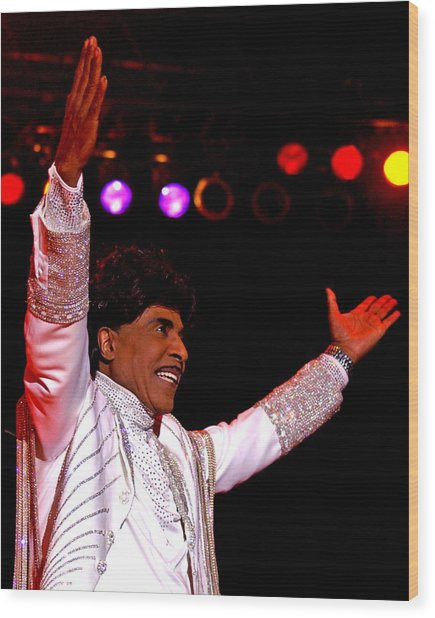 Little Richard Wood Print by Bob Guthridge