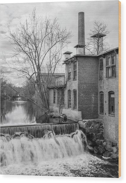Little River Dam Wood Print