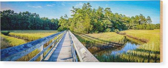 Little River Marsh Wood Print