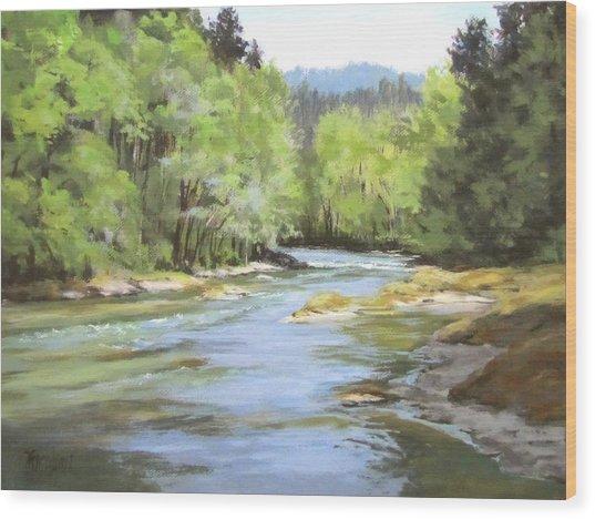 Little River Morning Wood Print