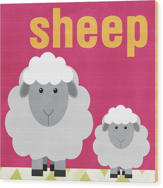 Little Sheep Wood Print