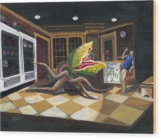 Little Shop Of Horrors Wood Print