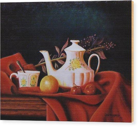 Little Tea Pot Wood Print