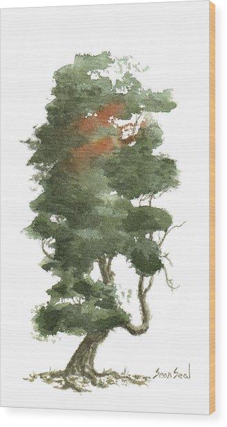 Little Tree 16 Wood Print