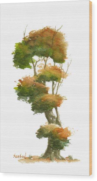 Little Tree 23 Wood Print