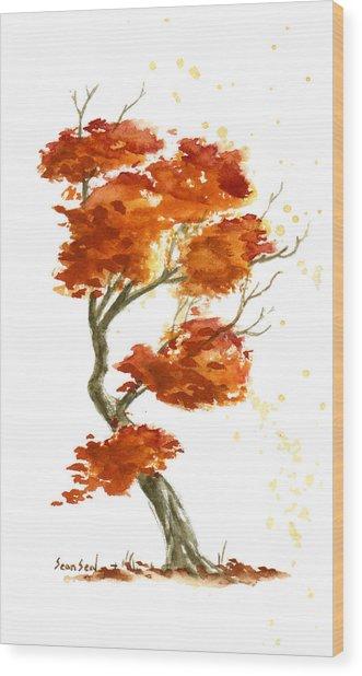 Little Tree 28 Wood Print