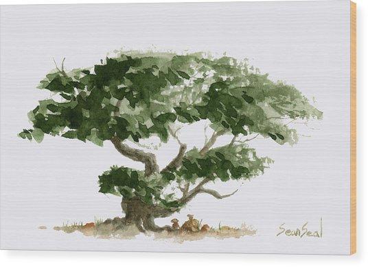 Little Tree 5 Wood Print
