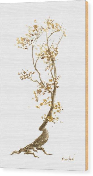 Little Tree 57 Wood Print by Sean Seal
