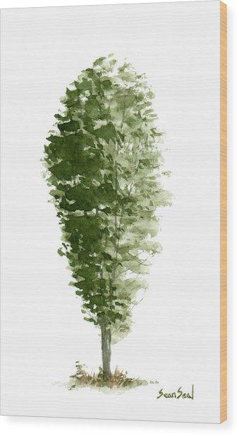 Little Tree 7 Wood Print