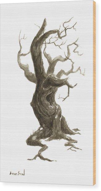Little Tree 78 Wood Print by Sean Seal