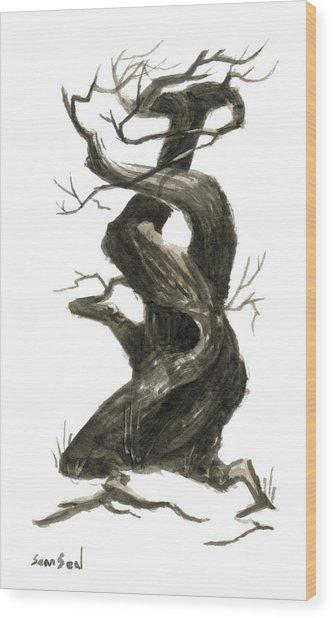 Little Tree 79 Wood Print by Sean Seal
