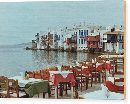 Little Venice On Mykonos Wood Print