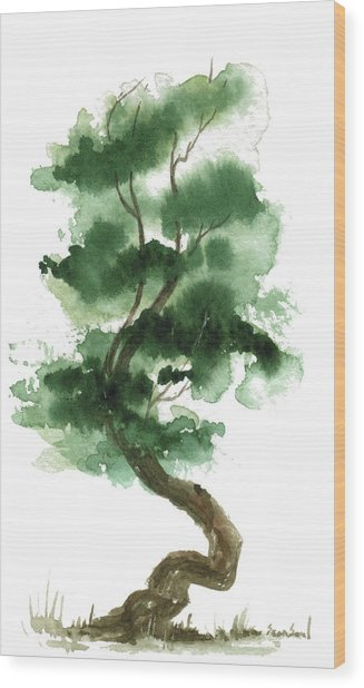 Little Zen Tree 151 Wood Print