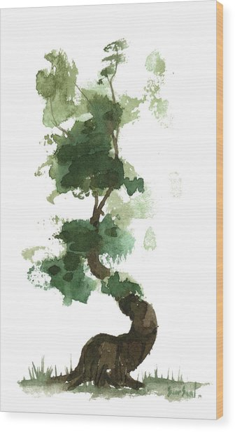 Little Zen Tree 154 Wood Print