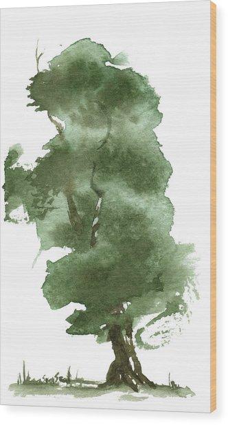 Little Zen Tree 162 Wood Print