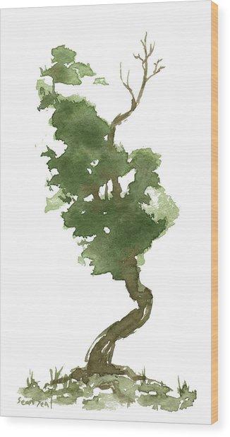Little Zen Tree 177 Wood Print