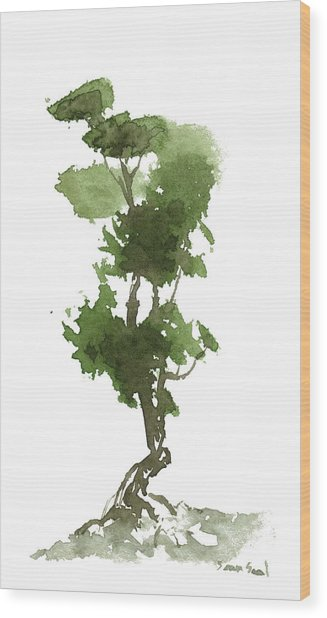 Little Zen Tree 186 Wood Print