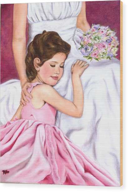 Littlest Wedding Belle Wood Print