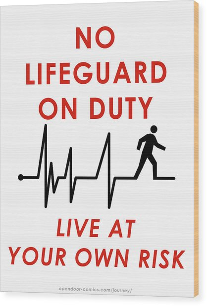 Live At Your Own Risk Wood Print by Jon Maki