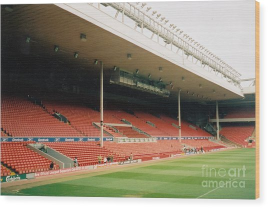 Liverpool - Anfield - Main Stand 6 - 2004 Wood Print