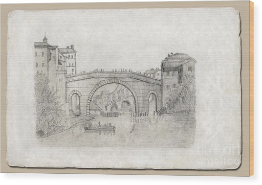 Liverpool Bridge Wood Print