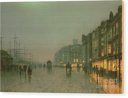 Liverpool Docks From Wapping Wood Print