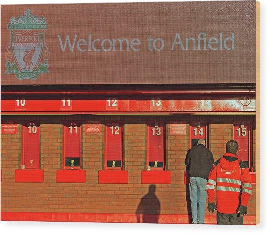 Liverpool Football Club Ticket Office Wood Print