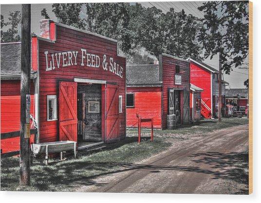 Livery Feed Wood Print