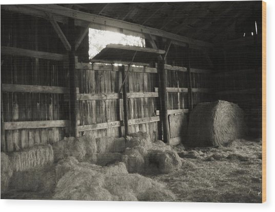 Livestock Barn In Kentucky Wood Print