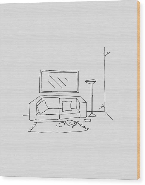 Living Room 001 Wood Print