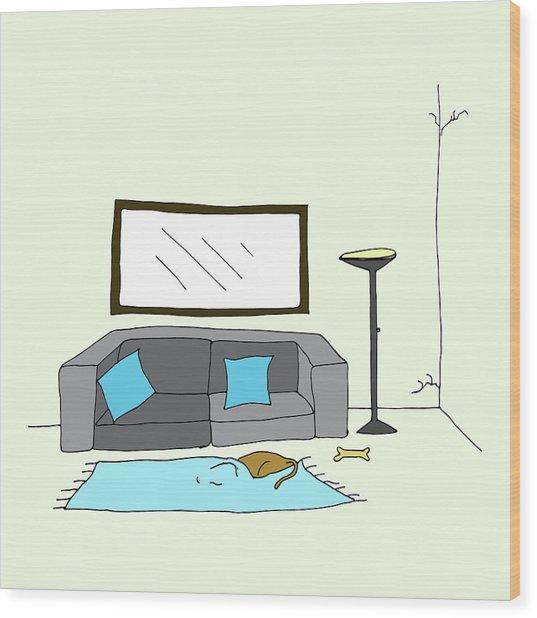 Living Room 002 Wood Print