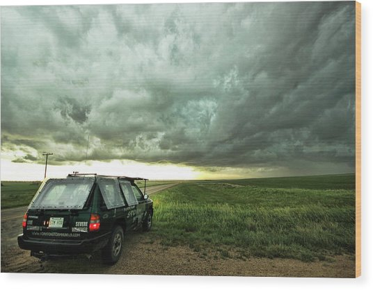 Living Saskatchewan Sky Wood Print
