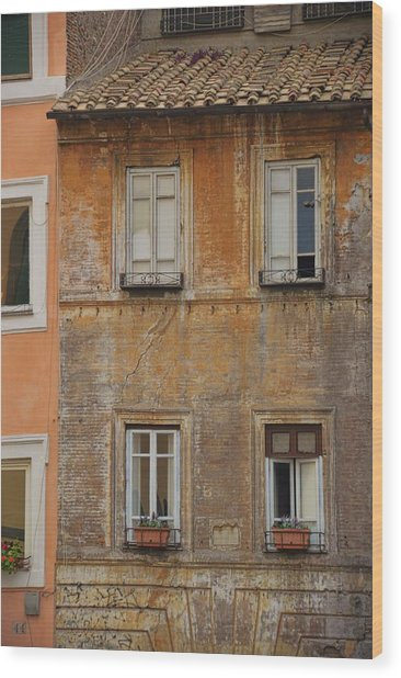Living Trastevere Wood Print by JAMART Photography