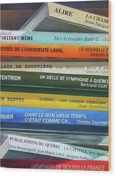 Livres ... Wood Print