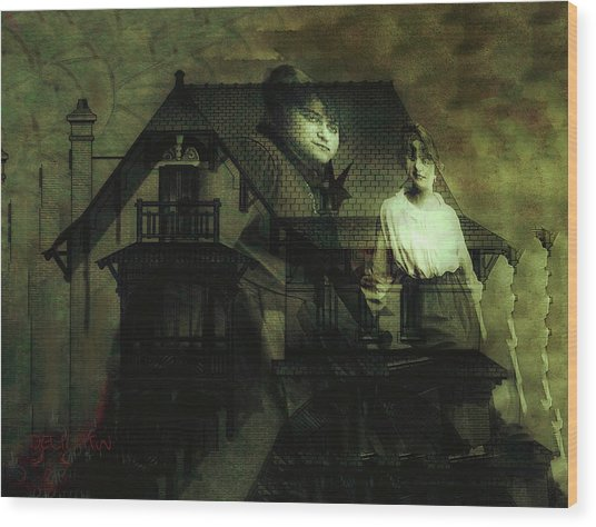Wood Print featuring the digital art Lizzie And Her Sister by Delight Worthyn