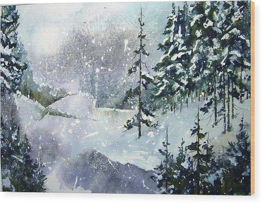 Lket It Snow - Let It Snow Wood Print
