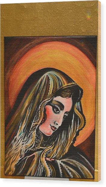 lLady of sorrows Wood Print